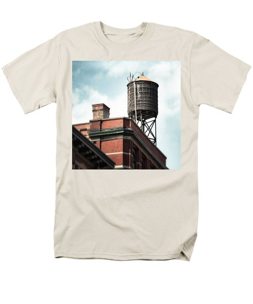 Water Tower In New York City - New York Water Tower 13 Men's T-Shirt  (Regular Fit) by Gary Heller