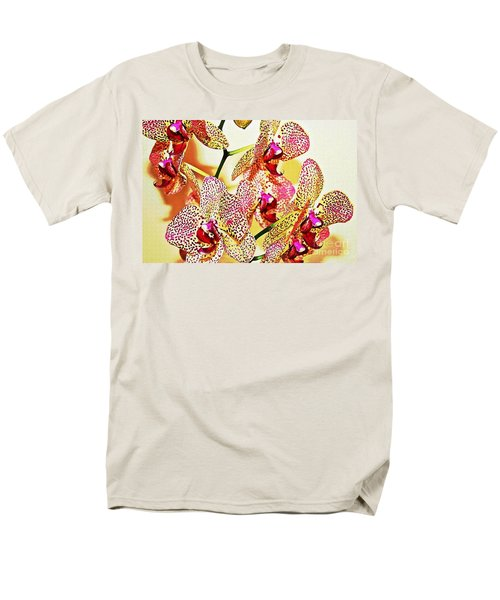 Men's T-Shirt  (Regular Fit) featuring the photograph Watercolor Orchid Shadows by Judy Palkimas
