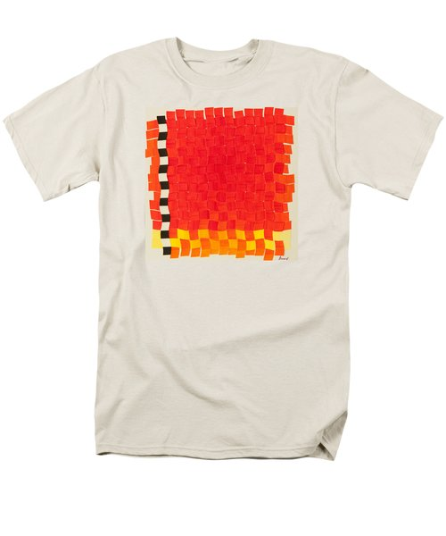 Weave #2 Sunset Weave Men's T-Shirt  (Regular Fit) by Thomas Gronowski