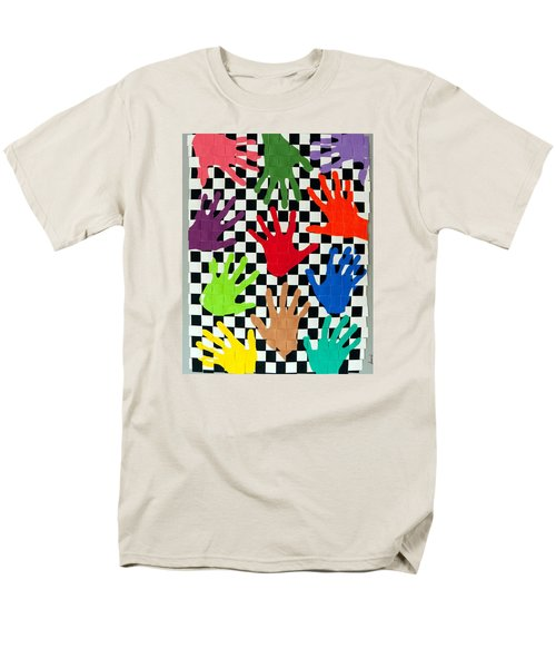 Weave #5 Hands On Men's T-Shirt  (Regular Fit) by Thomas Gronowski