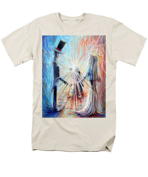 Wedding Photographer Men's T-Shirt  (Regular Fit) by Heather Calderon