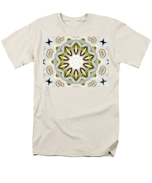 Men's T-Shirt  (Regular Fit) featuring the photograph White Daisies Kaleidoscope by Rose Santuci-Sofranko