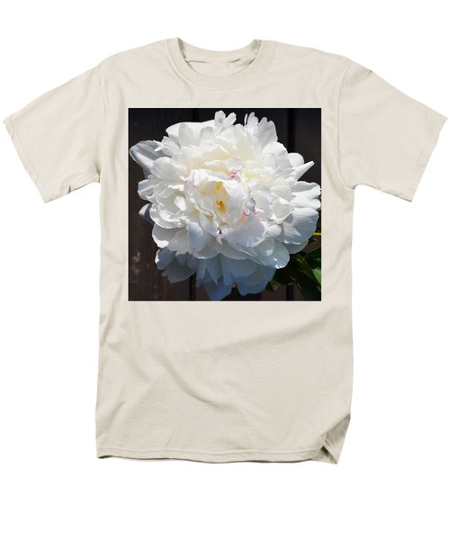 White Peony Men's T-Shirt  (Regular Fit) by Tine Nordbred
