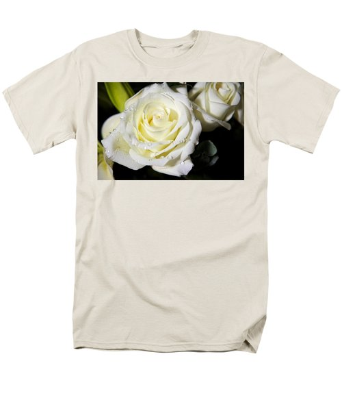 White Rose Men's T-Shirt  (Regular Fit) by Dave Files