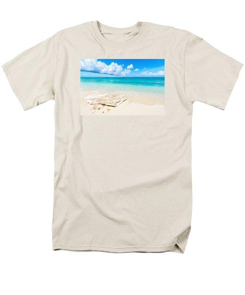 White Sand Men's T-Shirt  (Regular Fit) by Chad Dutson