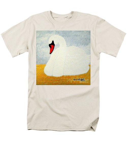 White Swan Lake Men's T-Shirt  (Regular Fit) by Richard W Linford