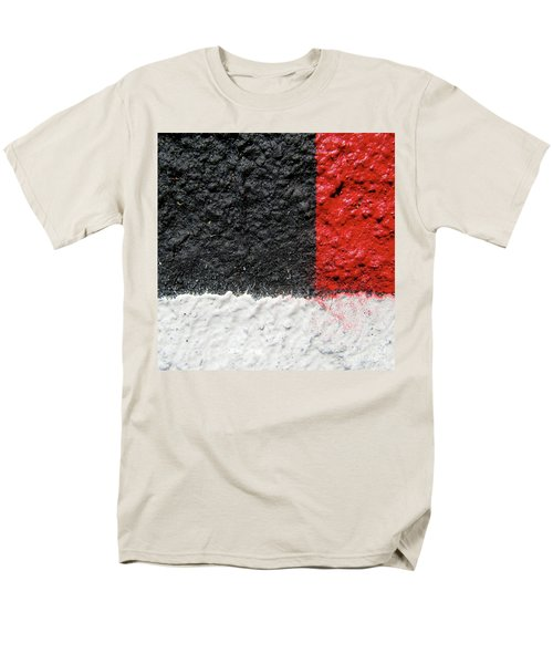 Men's T-Shirt  (Regular Fit) featuring the photograph White Versus Black Over Red by CML Brown