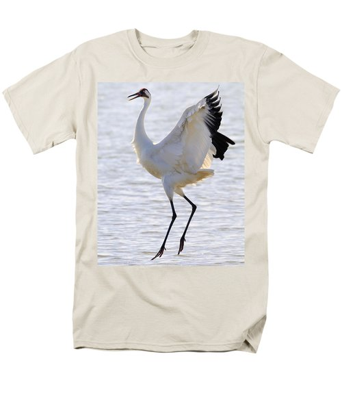 Whooping Crane - Whooping It Up Men's T-Shirt  (Regular Fit) by Tony Beck