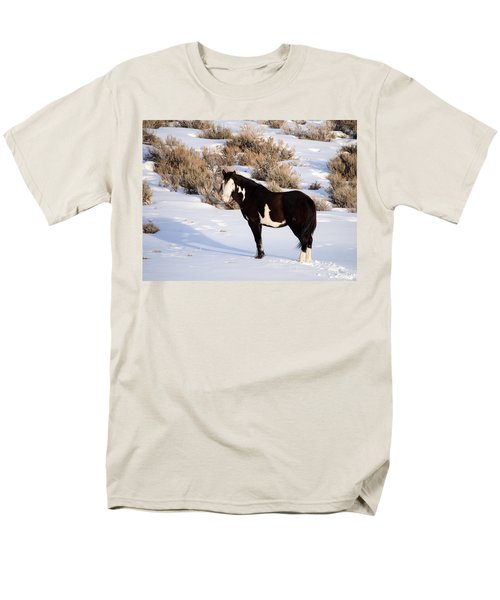 Wild Horse Stallion Men's T-Shirt  (Regular Fit) by Nadja Rider