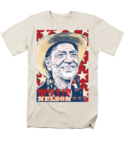 Willie Nelson Pop Art Men's T-Shirt  (Regular Fit) by Jim Zahniser