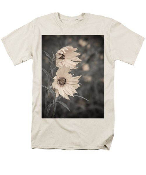 Men's T-Shirt  (Regular Fit) featuring the photograph Windblown Wild Sunflowers by Patti Deters