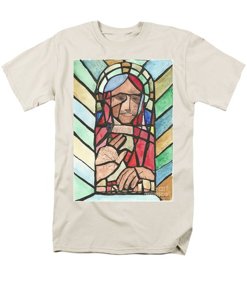 Men's T-Shirt  (Regular Fit) featuring the painting Window Of Peace by Tracey Williams