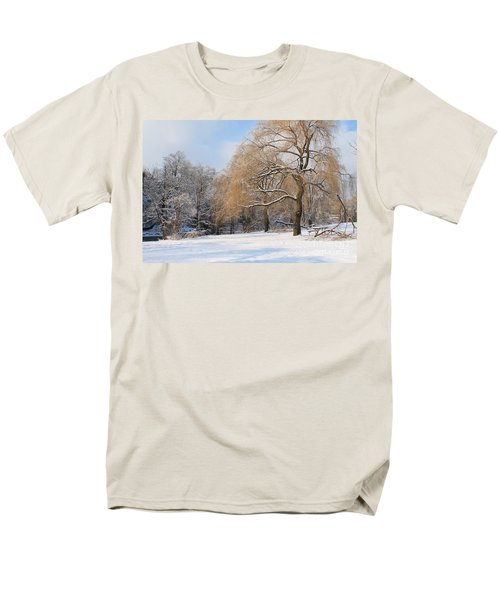 Winter Along The River Men's T-Shirt  (Regular Fit) by Nina Silver