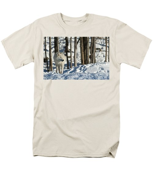 Men's T-Shirt  (Regular Fit) featuring the photograph Winter Arctic Wolf by Wolves Only