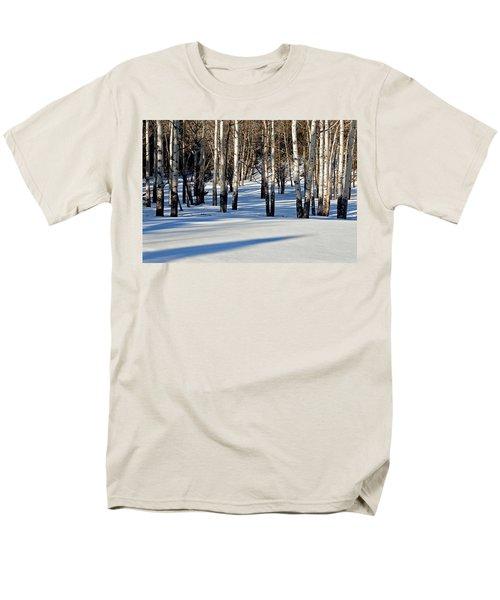 Men's T-Shirt  (Regular Fit) featuring the photograph Winter Aspens by Jack Bell