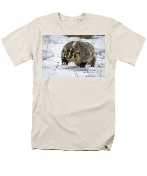Men's T-Shirt  (Regular Fit) featuring the photograph Winter Badger by Jack Bell