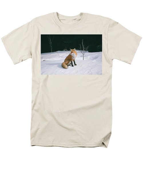 Winter Fox Men's T-Shirt  (Regular Fit) by David Porteus