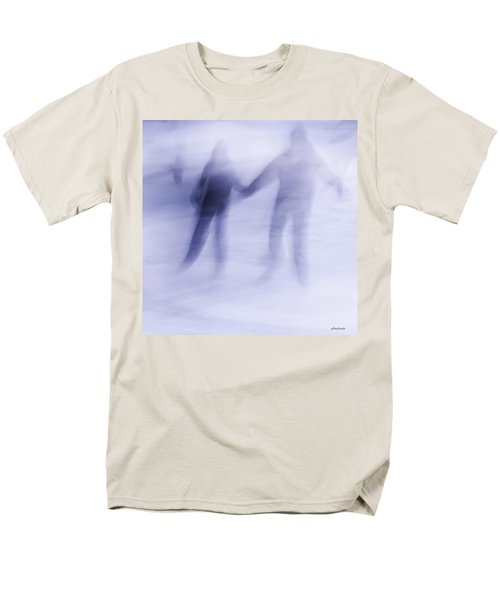 Men's T-Shirt  (Regular Fit) featuring the photograph Winter Illusions On Ice - Series 1 by Steven Milner