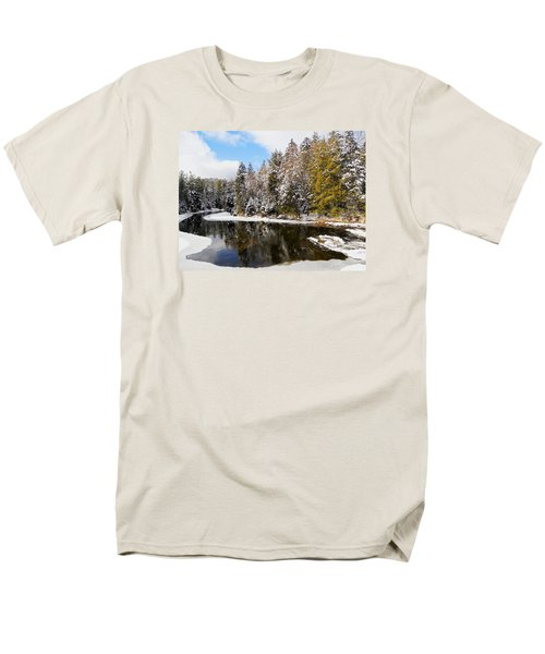 Men's T-Shirt  (Regular Fit) featuring the photograph Winter Impressions ... by Juergen Weiss