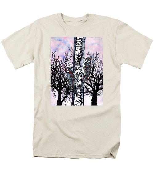 Men's T-Shirt  (Regular Fit) featuring the painting Winter In The Country by Connie Valasco