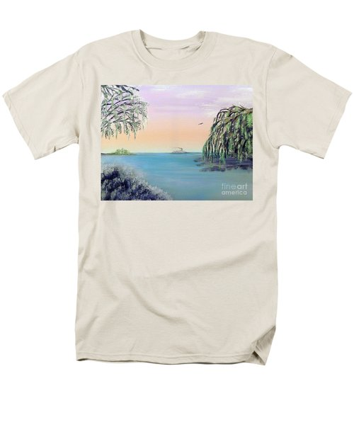 Winter On Lake Ponchartrain Men's T-Shirt  (Regular Fit) by Alys Caviness-Gober