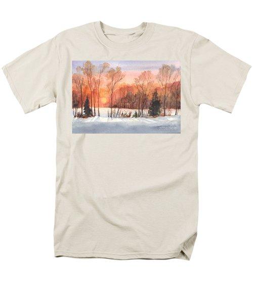 A Hedgerow Sunset Men's T-Shirt  (Regular Fit) by Carol Wisniewski