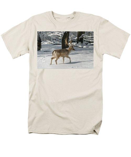 Winter Walk Men's T-Shirt  (Regular Fit) by Living Color Photography Lorraine Lynch