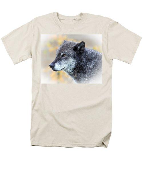 Men's T-Shirt  (Regular Fit) featuring the photograph Wolf by Steve McKinzie