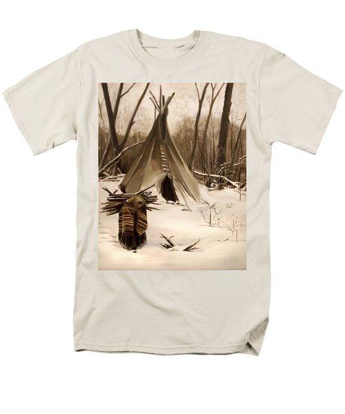 Wood Gatherer Men's T-Shirt  (Regular Fit) by Nancy Griswold