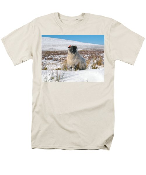 Woolly Red Men's T-Shirt  (Regular Fit) by Suzanne Oesterling