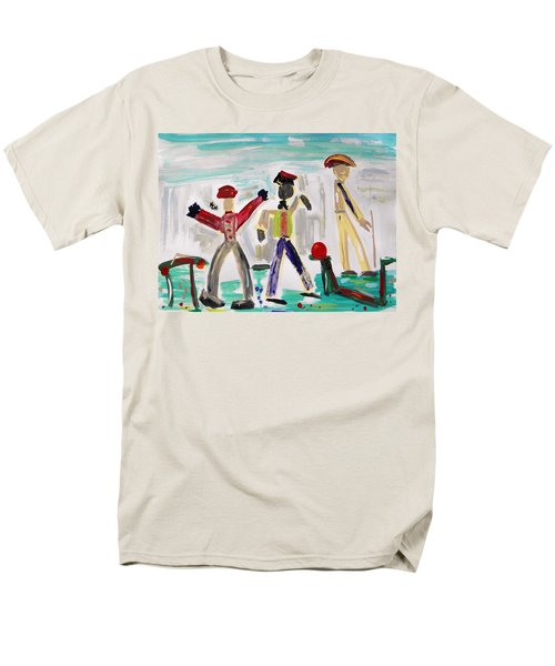 Men's T-Shirt  (Regular Fit) featuring the painting Working by Mary Carol Williams