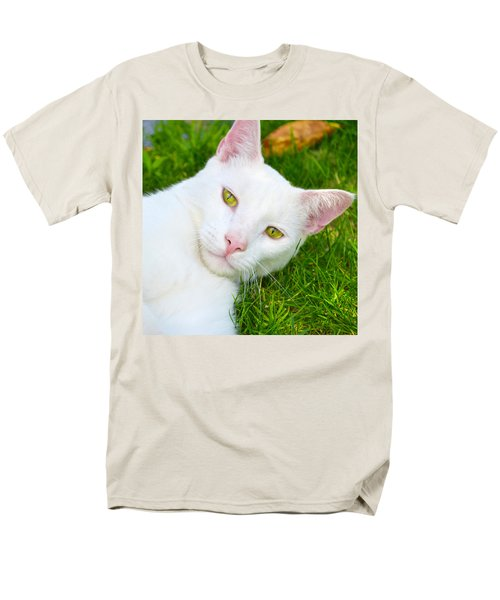 Yellow Eyes Men's T-Shirt  (Regular Fit) by Tine Nordbred