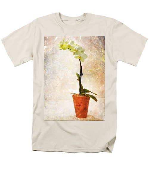 Men's T-Shirt  (Regular Fit) featuring the photograph Yellow Orchid by Patti Deters
