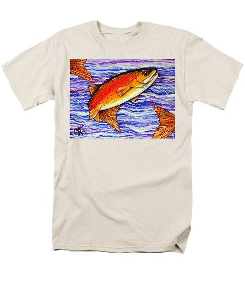 Yellowstone Cutthroat Men's T-Shirt  (Regular Fit) by Jackie Carpenter