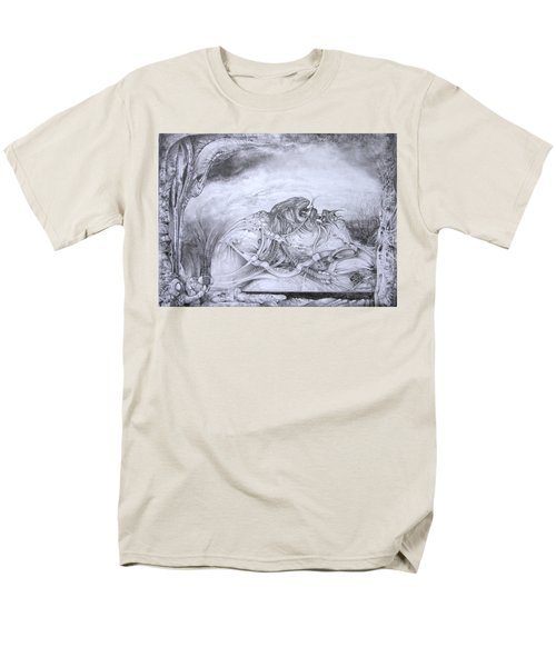 Men's T-Shirt  (Regular Fit) featuring the drawing Ymir At Rest by Otto Rapp