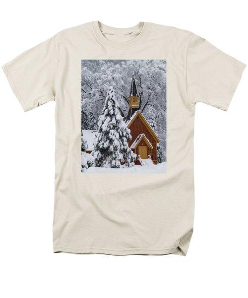 Yosemite Chapel Men's T-Shirt  (Regular Fit) by Bill Gallagher