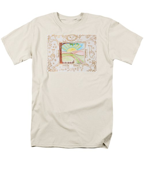 Men's T-Shirt  (Regular Fit) featuring the painting You Are My Sunshine by Cassie Sears