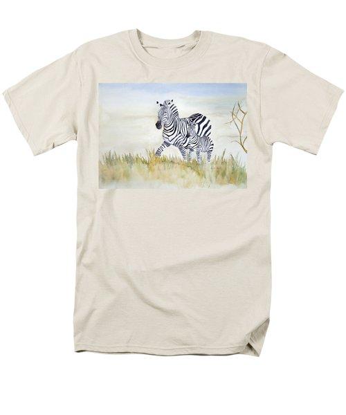 Zebra Family Men's T-Shirt  (Regular Fit) by Laurel Best