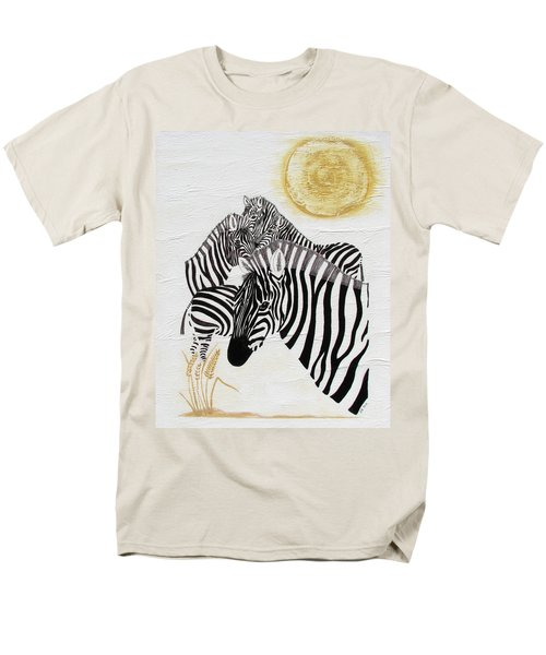 Men's T-Shirt  (Regular Fit) featuring the painting Zebra Quintet by Stephanie Grant