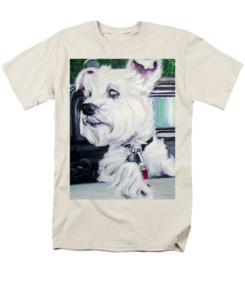 Zoey Waits For A Ride Men's T-Shirt  (Regular Fit) by Martha Suhocke