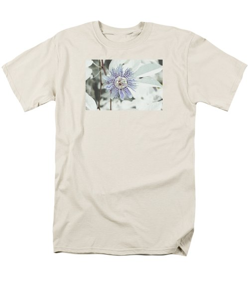 Men's T-Shirt  (Regular Fit) featuring the photograph  Passion Flower On White by Tom Wurl
