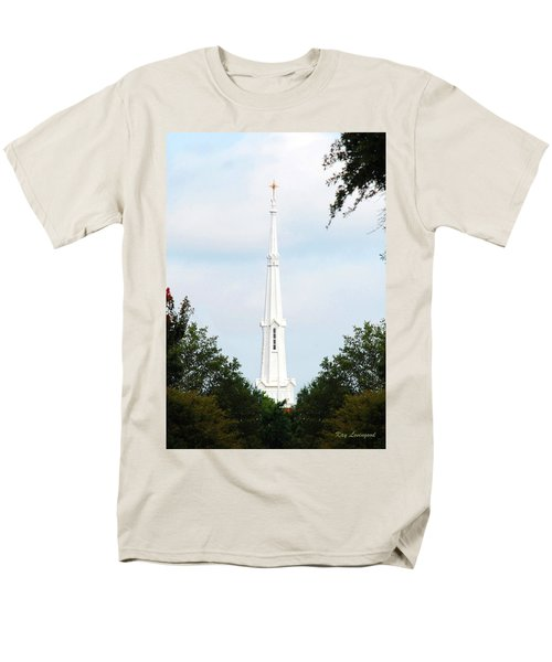 1st Christian Steeple Men's T-Shirt  (Regular Fit) by Kay Lovingood
