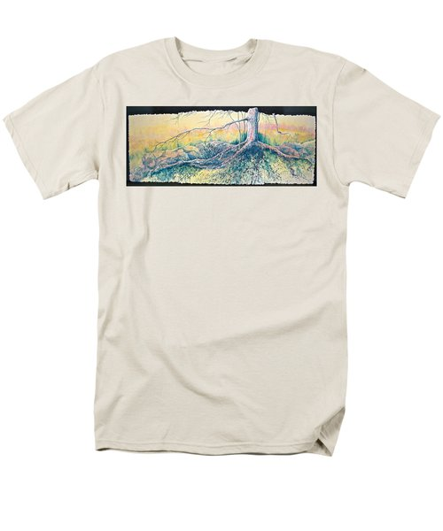 Rooted In Time Men's T-Shirt  (Regular Fit) by Carolyn Rosenberger