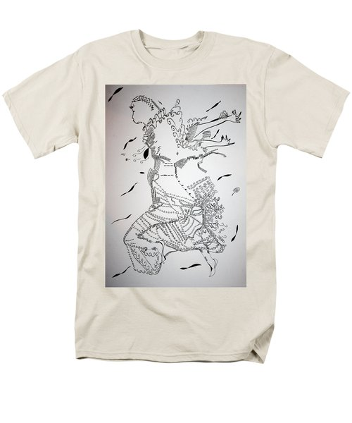 Men's T-Shirt  (Regular Fit) featuring the drawing Kiganda Dance - Uganda by Gloria Ssali