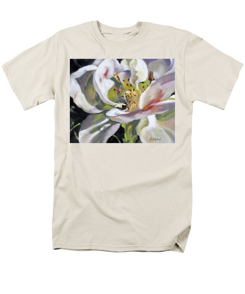 Men's T-Shirt  (Regular Fit) featuring the painting A Rose By Any Other Name by Rae Andrews