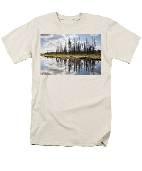 Men's T-Shirt  (Regular Fit) featuring the photograph A Tranquil River With A Reflection by Susan Dykstra