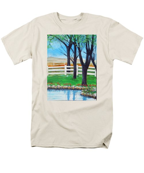 Men's T-Shirt  (Regular Fit) featuring the painting Along The Lane by Dan Whittemore