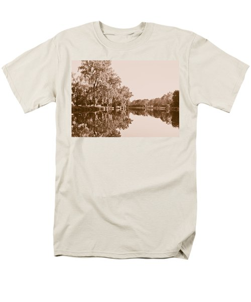 Men's T-Shirt  (Regular Fit) featuring the photograph Amber Reflection by Sara Frank