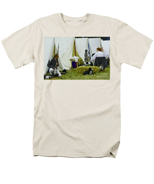 American Camp Men's T-Shirt  (Regular Fit) by JT Lewis