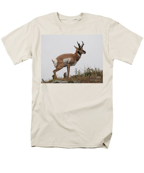 Men's T-Shirt  (Regular Fit) featuring the photograph Antelope Critiques Photography by Art Whitton